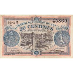 Cahors (Lot) - Pirot 35-25 - 50 centimes - Série M - 29/11/1920 - Etat : TB+