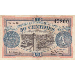 Cahors (Lot) - Pirot 35-25 - Série M - 50 centimes - 1920 - Etat : TB+