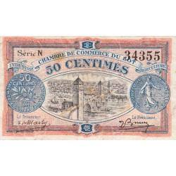 Cahors (Lot) - Pirot 35-25 - 50 centimes - Série N - 29/11/1920 - Etat : TB+