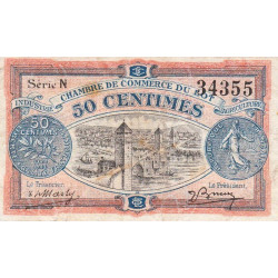 Cahors (Lot) - Pirot 35-25 - Série N - 50 centimes - 1920 - Etat : TB+