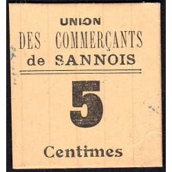 78 - Sannois (95) - Union des Commerçants - 5 centimes - Etat : SPL