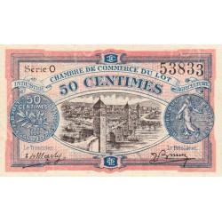 Cahors (Lot) - Pirot 35-25 - 50 centimes - Série O - 29/11/1920 - Etat : SPL
