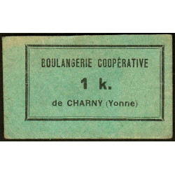 89 - Charny - Boulangerie Coopérative - 1 K. - Etat : SUP+