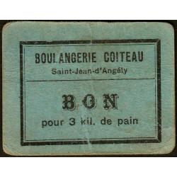 17 - St-Jean d'Angely - Boul. Coiteau - Bon pour 3 kil. de pain - Etat : TB+