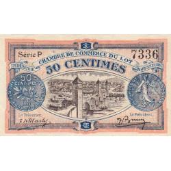 Cahors (Lot) - Pirot 35-25 - 50 centimes - Série P - 29/11/1920 - Etat : SUP