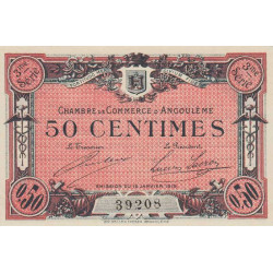 Angoulême - Pirot 9-13 - 50 centimes - 3ème série - 15/01/1915 - Etat : SPL