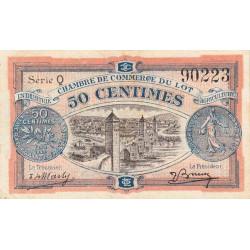 Cahors (Lot) - Pirot 35-25 - 50 centimes - Série Q - 29/11/1920 - Etat : TTB