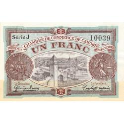 Cahors (Lot) - Pirot 35-22-J - 1 franc - 1918 - Etat : SUP