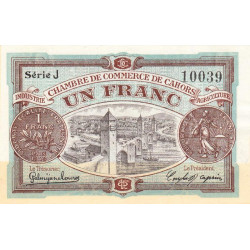 Cahors (Lot) - Pirot 35-22-J - 1 franc - Etat : SUP