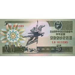 Corée du Nord - Pick 28 - 5 won - 1988 - Etat : NEUF