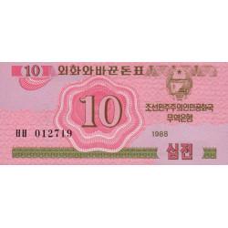 Corée du Nord - Pick 33 - 10 jeon - 1988 - Etat : NEUF