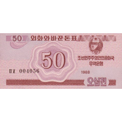 Corée du Nord - Pick 34 - 50 jeon - 1988 - Etat : NEUF
