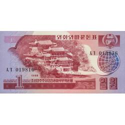 Corée du Nord - Pick 35 - 1 won - 1988 - Etat : NEUF