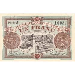 Cahors (Lot) - Pirot 35-22-J - 1 franc - 1918 - Etat : SPL