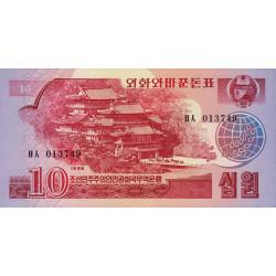 Corée du Nord - Pick 37 - 10 won - 1988 - Etat : NEUF