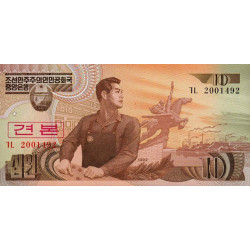 Corée du Nord - Pick 41s - 10 won - 1992 - Spécimen - Etat : NEUF