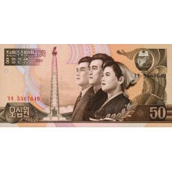 Corée du Nord - Pick 42a - 50 won - 1992 - Etat : NEUF