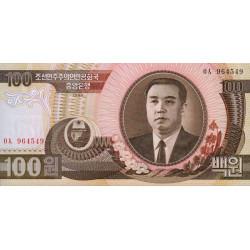 Corée du Nord - Pick 43a - 100 won - 1992 - Etat : NEUF