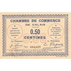 Calais - Pirot 36-1 - 50 centimes - Sans série - 22/08/1914 - Etat : SPL