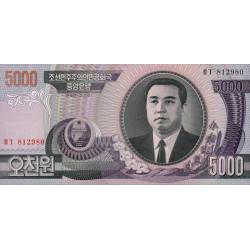 Corée du Nord - Pick 46b - 5'000 won - 2002 - Etat : NEUF