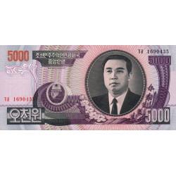 Corée du Nord - Pick 46c - 5'000 won - 2006 - Etat : NEUF
