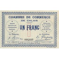 Calais - Pirot 36-3 - 1 franc - 1914 - Etat : SPL+
