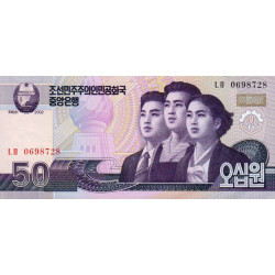 Corée du Nord - Pick 60a - 50 won - 2002 - Etat : NEUF