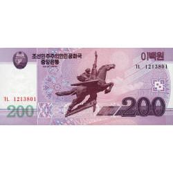 Corée du Nord - Pick 62a_1 - 200 won 2008 (2009) - Etat : NEUF