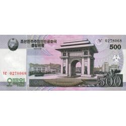 Corée du Nord - Pick 63a - 500 won - 2008 - Etat : NEUF