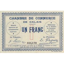 Calais - Pirot 36-3 - 1 franc - Sans série - 22/08/1914 - Etat : SPL