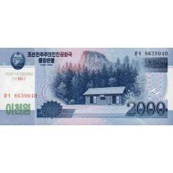 Corée du Nord - Pick CS 16_1 - 2'000 won - 2008 (2012) - Commémoratif - Etat : NEUF