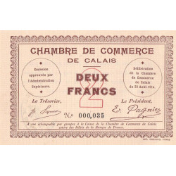 Calais - Pirot 36-05 - 2 francs - Etat : SPL