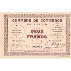 Calais - Pirot 36-5 - 2 francs - Sans série - 22/08/1914 - Etat : SPL