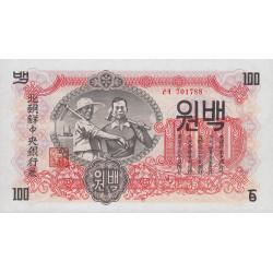 Corée du Nord - Pick 11b - 100 won - 1947 - Etat : NEUF