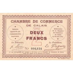 Calais - Pirot 36-5 - 2 francs - Sans série - 22/08/1914 - Etat : SUP+