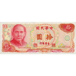 Chine - Taiwan - Pick 1984 - 10 yüan - 1976 - Etat : SPL