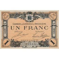 Angoulême - Pirot 9-16 - 1 franc - 3ème série - 15/01/1915 - Etat : SPL