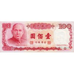 Chine - Taiwan - Pick 1989 - 100 yüan - 1987 - Etat : TTB