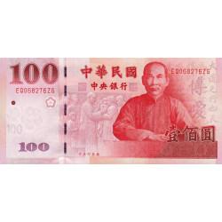 Chine - Taiwan - Pick 1991 - 100 yüan - 2000 - Etat : NEUF