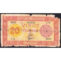 Djibouti - Pick 15 - 20 francs - 1944 - Etat : AB