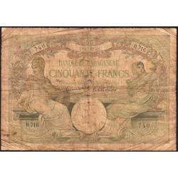 Madagascar - Pick 38c - 50 francs - 1948 - Etat : B-
