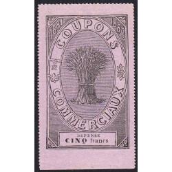 Coupons Commerciaux - 5 francs - 1881/1882 - Etat : SPL