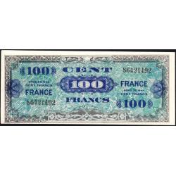 VF 25-1 - 100 francs - France - 1944 - Variété impression inclinée du recto - Etat : SPL