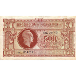 VF 11-1 - 500 francs - Marianne - 1945 - Etat : TTB-