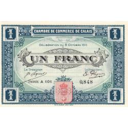 Calais - Pirot 36-15 - 1 franc - Série A 101 - 08/10/1915 - Etat : SUP+