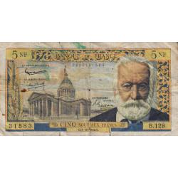 F 56-16 - 01/10/1964 - 5 nouv. francs - Victor Hugo - Etat : B-