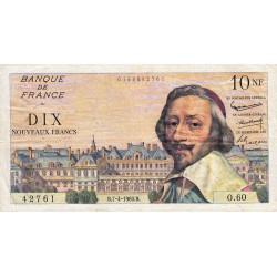 F 57-06 - 07/04/1960 - 10 nouv. francs - Richelieu - Série O.60 - Etat : TTB-