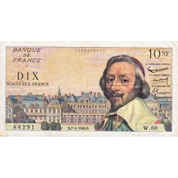 F 57-06 - 07/04/1960 - 10 nouv. francs - Richelieu - Série W.6O - Remplacement - Etat : TTB