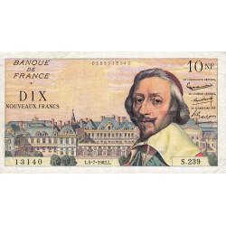 F 57-20 - 05/07/1962 - 10 nouv. francs - Richelieu - Série S.239 - Etat : TB+