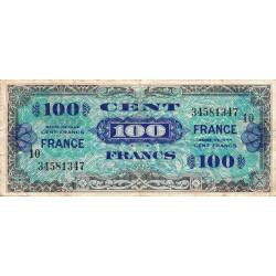 VF 25-10 - 100 francs série 10 - France - 1944 - Etat : TB